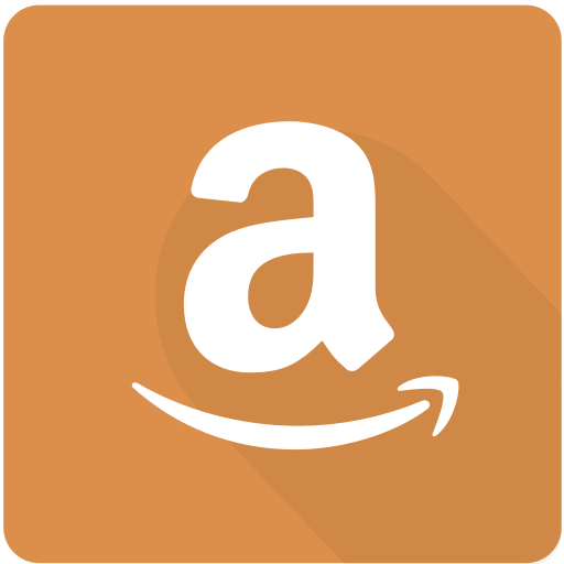 Amazon, Design, Ecommerce, Material, Online, Shopping, Square Icon