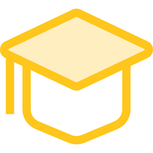 Education Flat Education Gold Icon