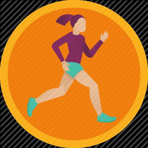 Exercise, Fitness, Girl, Health, Jog, Run, Sport, Woman Icon