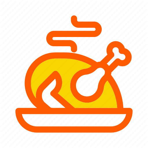 Autumn, Bbq, Chicken, Fall, Food, Rost, Thanksgiving Icon