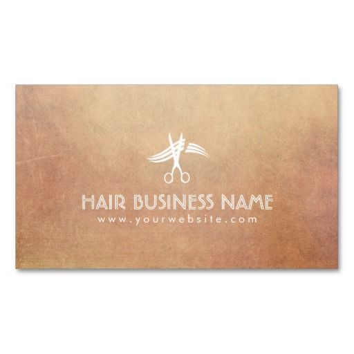 Vintage Scissor Icon Hair Stylist Business Cards