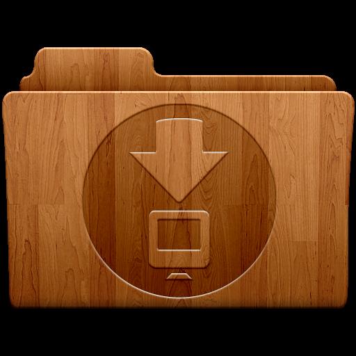 Downloads, Folder Icon Free Of Wood Folders Icons