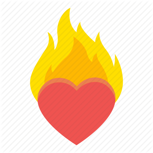 Burning, Fire, Heart, Hot, Love Icon