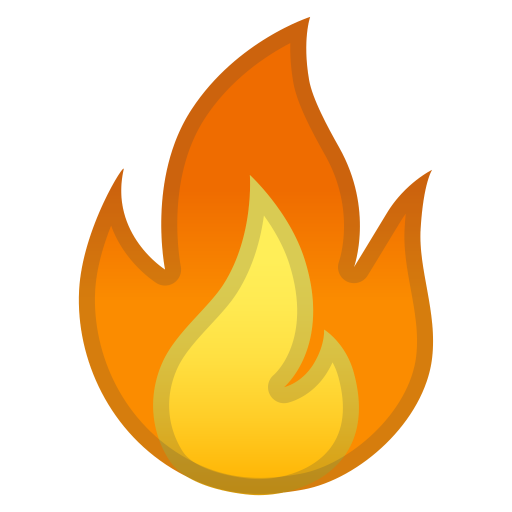 Fire Icon Noto Emoji Travel Places Iconset Google