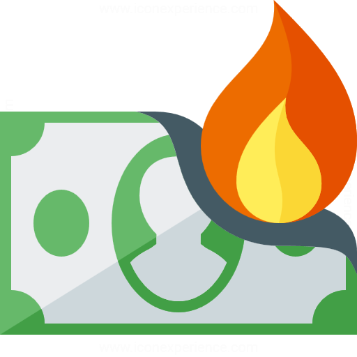 Iconexperience G Collection Money Bill Fire Icon
