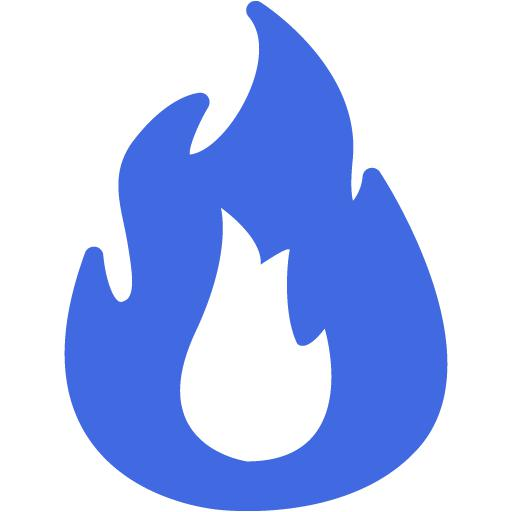 Royal Blue Fire Icon