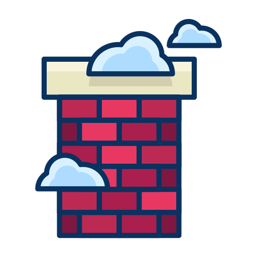 Chimney, House, Cloud, Real Estate, Fireplace Icon