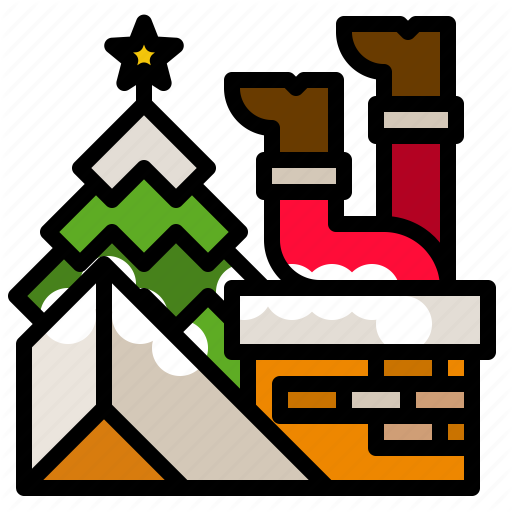 Christmas, Fire, Fireplace, Home Icon