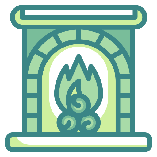 Fire, Fireplace, Furniture, Home, Living, Room, Winter Icon Free