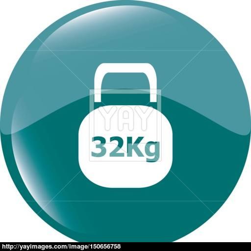 Weight Sign Icon Kilogram