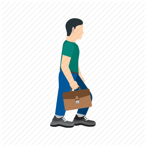 Briefcase, Business, Corporate, Holding, Job, Walk, Walking Icon