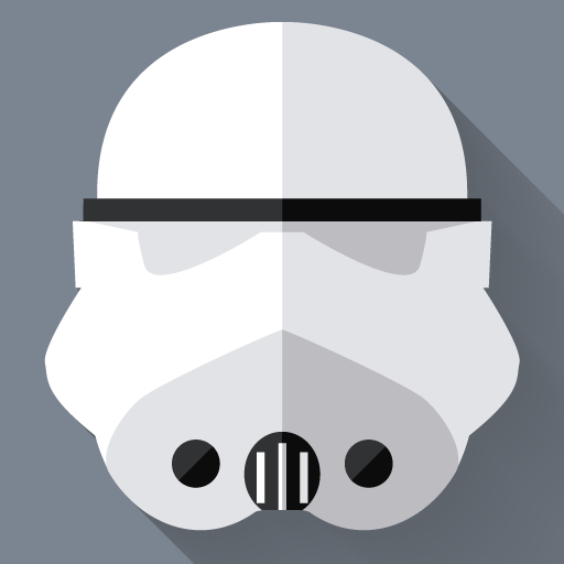 Stormtrooper Icon Starwars Longshadow Flat Iconset Creativeflip