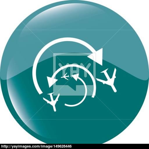 Airplane Sign Plane Symbol Travel Icon Flight Flat Label Web