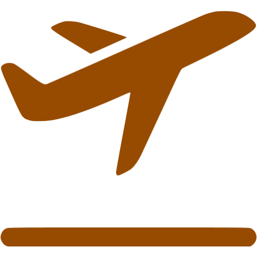 Brown Airplane Takeoff Icon