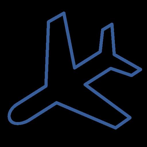 Plane, Flight, Airplane, Landing, Journey, Destination, Arrival Icon