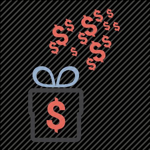 Dollar, Free, Gift, Money, Present Icon
