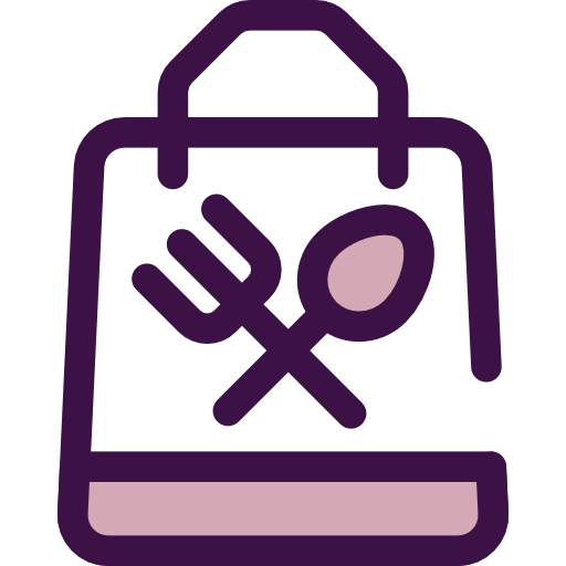 Food And Restaurant, Food, Bag, Delivery, Restaurant, Take Away Icon