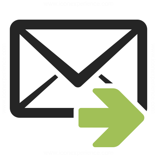 Mail Forward Icon Iconexperience