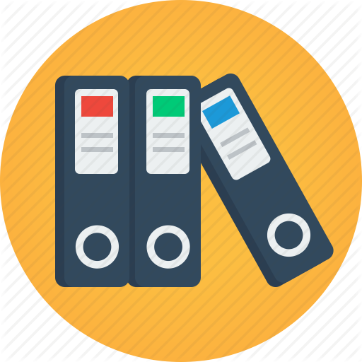 Data, Documents, Files, Folders, Portfolio Icon