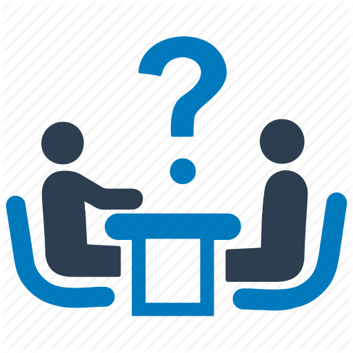 Answer, Ask, Business Meeting, Decide, Dialogue, Interview