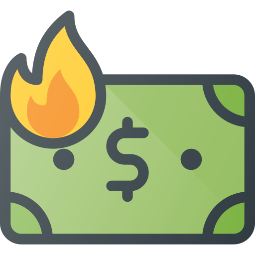 Inflation, Money, Value, Low, Burn Icon Free Of Free Set Color Outline