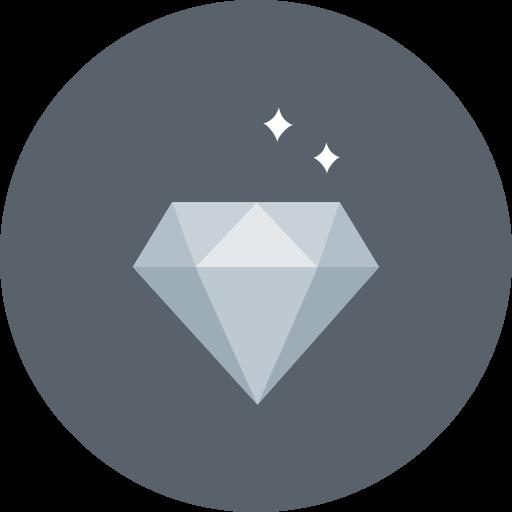 Luxury, Gem, Sparkle, Diamond, Value, Wealth Icon