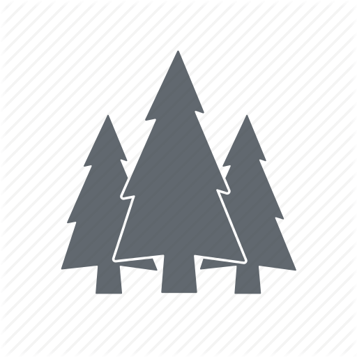 Forest, Map, Spruce, Travel Icon