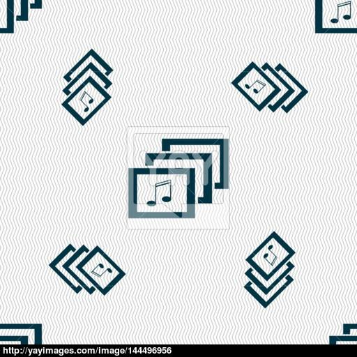 Music Format Sign Icon Musical Symbol Seamless Pattern