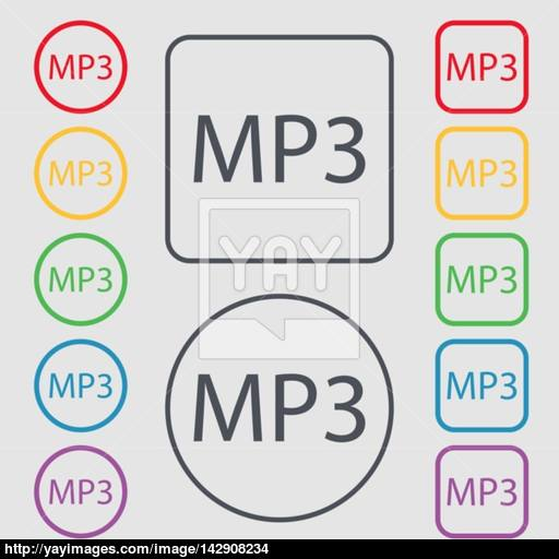 Music Format Sign Icon Musical Symbol Symbols On The Round