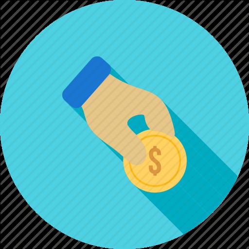 Cash, Coin, Donate, Donation, Fund, Hand, Money Icon