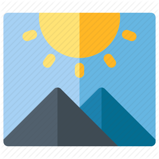 Android, Gallery, Image, Landscape, Mobile, Sun Icon