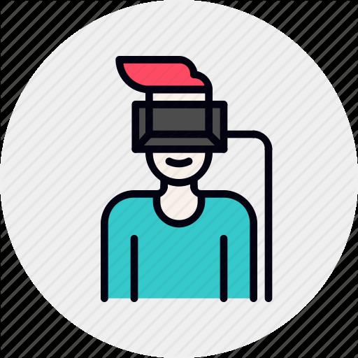 Helmet, Human, Man, Reality, User, Virtual, Vr Icon