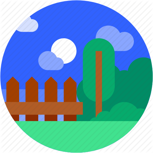 Circle, Flat Icon, Garden, Home, Landscape, Trees Icon