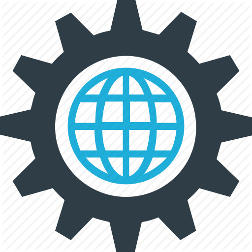 Gear, Globe, Globe Gear, World In Gear Icon Icon