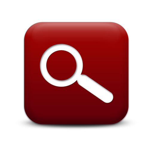 Simple Red Square Icon Business Magnifying Glass Ps