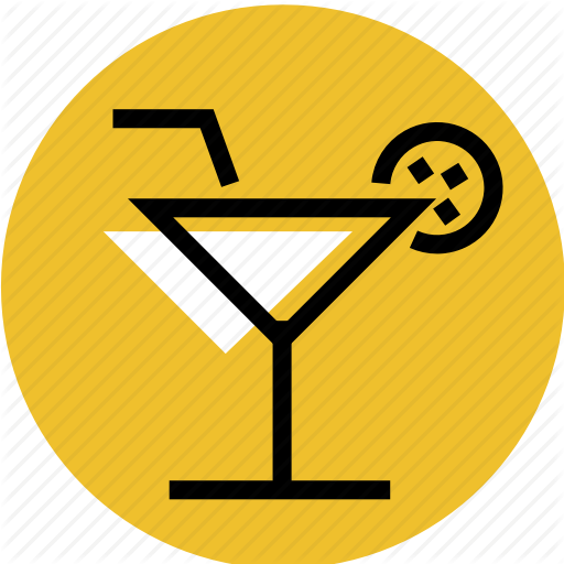 Cocktail, Cocktail Icon, Glass, Glass Icon, Grid, Lemon Icon