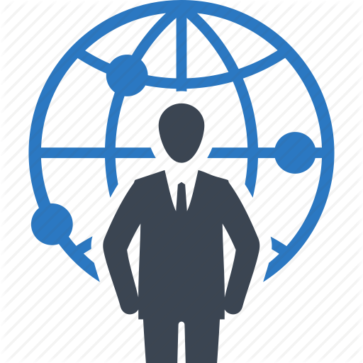 Global, Businessman Icon