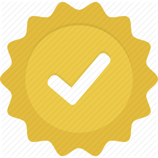 Badge, Check, Gold, Verified, Yellow Icon