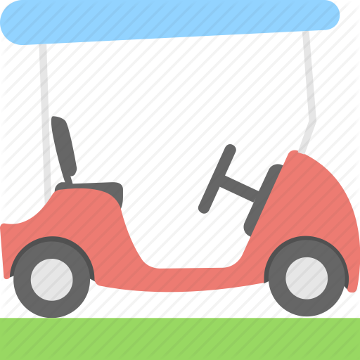 Golf, Golf Car, Golf Cart, Golf Motor, Sports Icon
