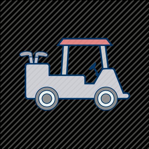 Golf Car, Golf Cart, Transport Icon