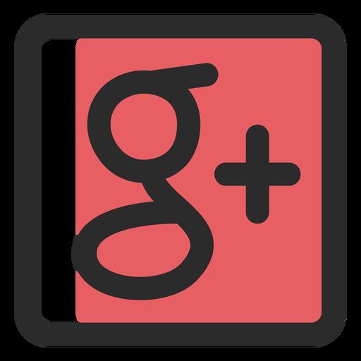Google Plus Colored Stroke Icon