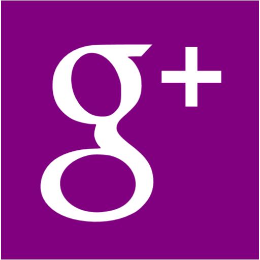 Purple Google Plus Icon