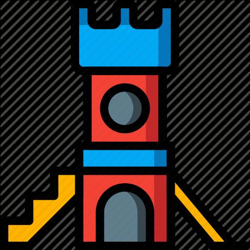 Amusements, Bouncy, Castle, Fair, Fun, Slide Icon
