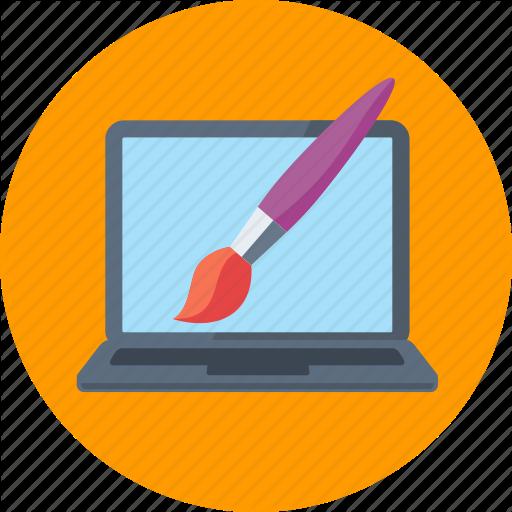 Graphic Design, Paintbrush, Web Design Icon