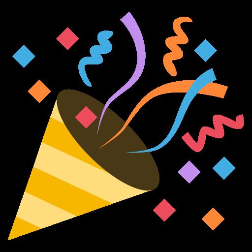Party Popper Emoji Icon Vector Free Download Vector Logos Art