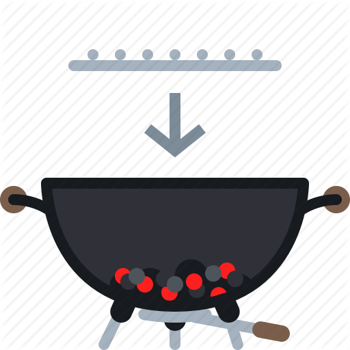 Barbecue, Coal, Cooking, Embers, Food, Grill, Yumminky Icon