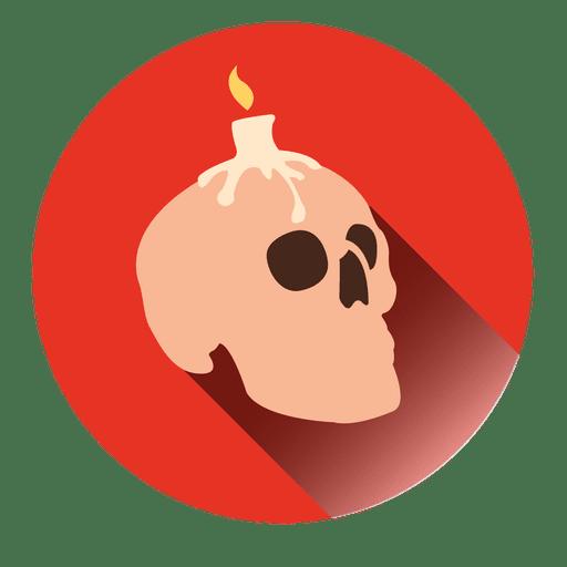 Candle Skull Round Icon