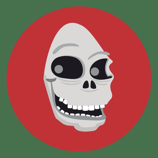 Ghost Skull Circle Icon