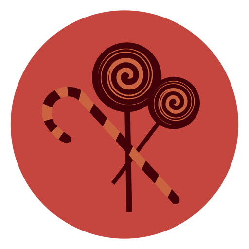 Lollypop Candy Circle Icon