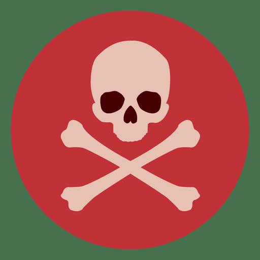 Skull Bones Circle Icon